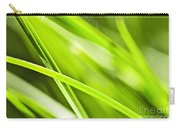 Green Grass Abstract Carry-all Pouch by Elena Elisseeva