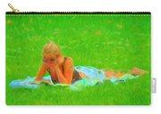 Green Grass Girl Carry-all Pouch