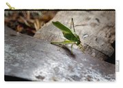 Green Grasshopper On Axe Carry-all Pouch