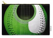 Green Guitar Baseball White Laces Square Carry-all Pouch