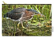 Green Heron And Catch Carry-all Pouch