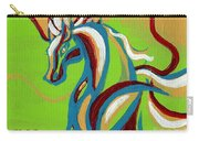 Green Horse Carry-all Pouch by Genevieve Esson