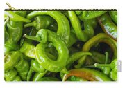 Green Hot Peppers Carry-all Pouch