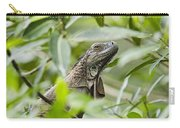 Green Iguana In Lowland Rainforest Carry-all Pouch