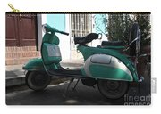 Green Vespa Carry-all Pouch
