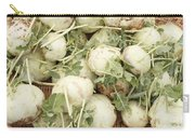 Green Kohlrabi Basket Display Carry-all Pouch