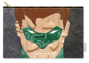 Green Lantern Superhero Portrait Recycled License Plate Art Carry-all Pouch
