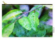 Green Leaf As A Painting Carry-all Pouch