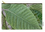 Green Leaf Macro Carry-all Pouch