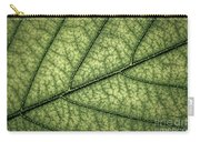 Green Leaf Texture Carry-all Pouch