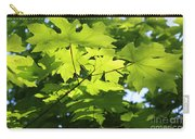Green Leaves Canvas Carry-all Pouch