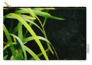 Green Leaves In Black Light Carry-all Pouch