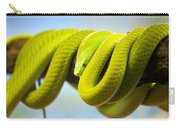 Green Mamba Coiled Up On A Branch Carry-all Pouch