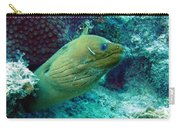 Green Moray Eel With Cleaning Fish Carry-all Pouch