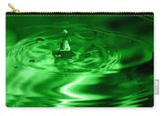 Green Multi Colored Water Drop Bubbling Carry-all Pouch