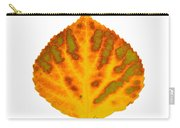 Green Orange Red And Yellow Aspen Leaf 1 Carry-all Pouch