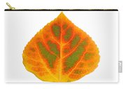 Green Orange Red And Yellow Aspen Leaf 5 Carry-all Pouch