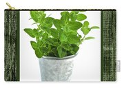 Green Oregano Herb In Small Pot Carry-all Pouch