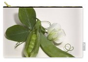 Green Peas In Pod With White Flower Carry-all Pouch