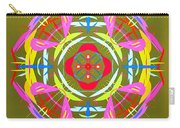 Green Pink Yellow Abstract Carry-all Pouch