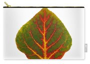 Green Red And Yellow Aspen Leaf 4 Carry-all Pouch