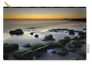Green Rocks At Sunset Carry-all Pouch