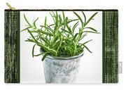 Green Rosemary Herb In Small Pot Carry-all Pouch
