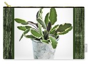 Green Sage Herb In Small Pot Carry-all Pouch by Elena Elisseeva