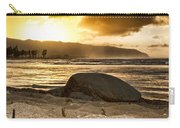 Green Sea Turtle At Sunset V2 Carry-all Pouch