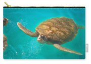 Green Sea Turtle Surfacing Carry-all Pouch