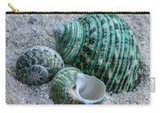 Green Seashells Carry-all Pouch