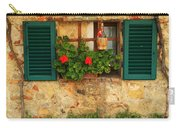 Green Shutters And Window In Chianti Carry-all Pouch