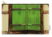 Green Shutters In Colmar France Carry-all Pouch