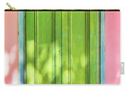 Green Shutters Pink Stucco Wall 2 Carry-all Pouch
