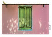 Green Shutters Pink Stucco Wall Carry-all Pouch