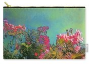 Green Sky With Pink Bougainvillea - Square Carry-all Pouch