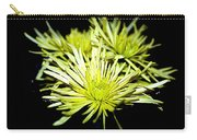 Green Spider Mums Carry-all Pouch