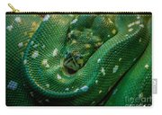 Green Tree Python Curled Carry-all Pouch