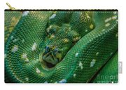 green tree python Macro Carry-all Pouch