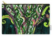 Green Tree With Pink Watercolor Carry-all Pouch