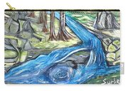 Green Trees With Rocks And River Carry-all Pouch