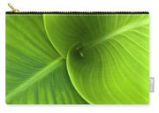 Green Twin Leaves Carry-all Pouch