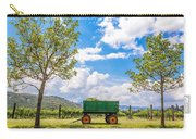 Green Wagon And Vineyard Carry-all Pouch