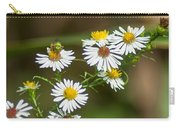 Green Wasp And Daisies Carry-all Pouch