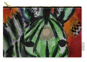 Green Zebra Stripes  Carry-all Pouch