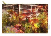 Greenhouse - The Greenhouse And The Garden Carry-all Pouch by Mike Savad