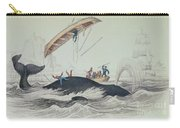 Greenland Whale Book Illustration Engraved By William Home Lizars  Carry-all Pouch