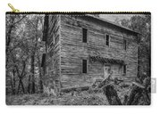Greer Mill Black And White Carry-all Pouch