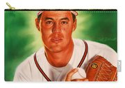 Greg Maddux Carry-all Pouch by Dick Bobnick