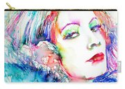 Greta Garbo - Colored Pens Portrait Carry-all Pouch